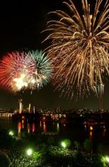 Western Japan Ohori Fireworks Display